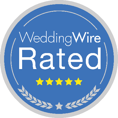Wedding Wire Rated - 5 Stars